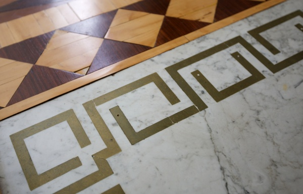 Brass embedded in Marble