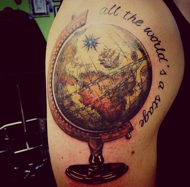 10 inspira es de tatuagens para quem gosta de viajar 10 inspiring travel themed tattoos 1 - Tatouage globe terrestre ...